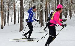 06-03-2016 SWE: Vasaloppet Challenge BvdGF day 7, Sälen<br /> Vandaag een rustig dagje, 90 km langlaufen van Sälen naar Mora in bizarre omstandigheden / Frank, Irene