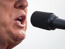 October 12, 2016 - Lakeland, Florida, U.S. - Republican presidential nominee DONALD TRUMP speaks during a rally at Lakeland Linder Regional Airport. (Credit Image: © Loren Elliott/Tampa Bay Times via ZUMA Wire)