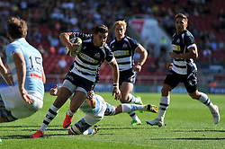 Ben Mosses of Bristol Rugby takes on the Bedford Blues defence - Photo mandatory by-line: Patrick Khachfe/JMP - Mobile: 07966 386802 06/09/2015 - SPORT - RUGBY UNION - Bristol - Ashton Gate - Bristol Rugby v Bedford Blues - Greene King IPA Championship