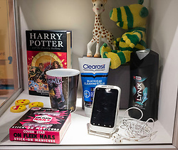 Display inside refurbished Museum of Childhood on the Royal Mile in Edinburgh Old Town, Scotland, United Kingdom
