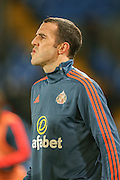 Sunderland defender John OShea during the Barclays Premier League match between Crystal Palace and Sunderland at Selhurst Park, London, England on 23 November 2015. Photo by Simon Davies.