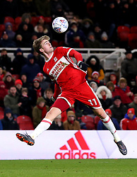 Patrick Bamford of Middlesbrough controls the ball - Mandatory by-line: Robbie Stephenson/JMP - 02/03/2018 - FOOTBALL - Riverside Stadium - Middlesbrough, England - Middlesbrough v Leeds United - Sky Bet Championship