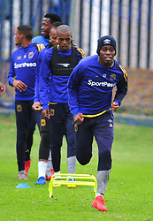 Cape Town-180329 Cape Town City defenders Mpho Matsi and Ibrahim Seedat at training preparing for heir Nedbank Cup game against Sundowns on sunday  .Photographer;Phando Jikelo/African News Agency/ANA