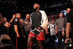 Toronto, Ontario, Canada - September 22, 2012: UFC Light Heavyweight Champion Jon Jones (Red trunks) and Vitor Belfort (White trunks) during UFC 152 at the Air Canada Centre in Toronto, Ontario, Canada.