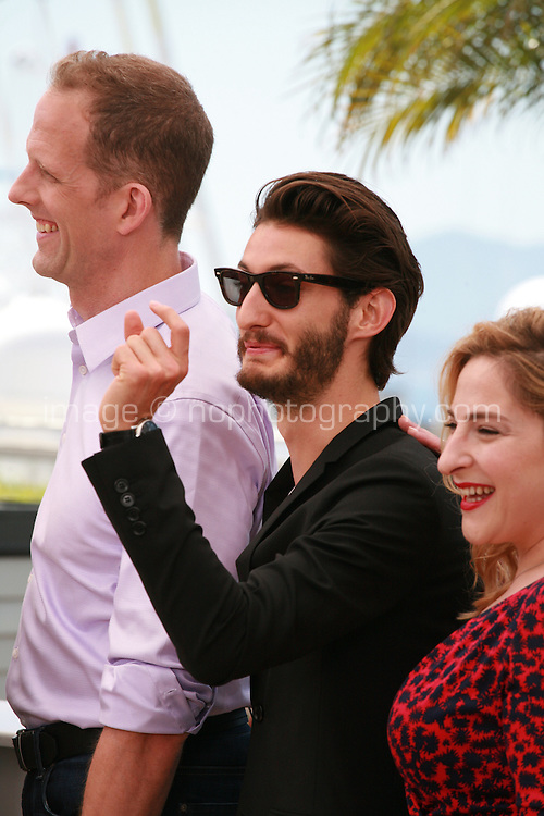Director Pete Docter, actor Pierre Niney, actress Marilou Berry Inside Out film photo call at the 68th Cannes Film Festival Monday May 18th 2015, Cannes, France.