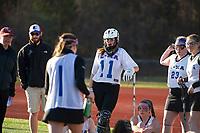 Interlakes/Moultonboro versus Belmont girls varsity lacrosse.  Karen Bobotas for the Laconia Daily Sun