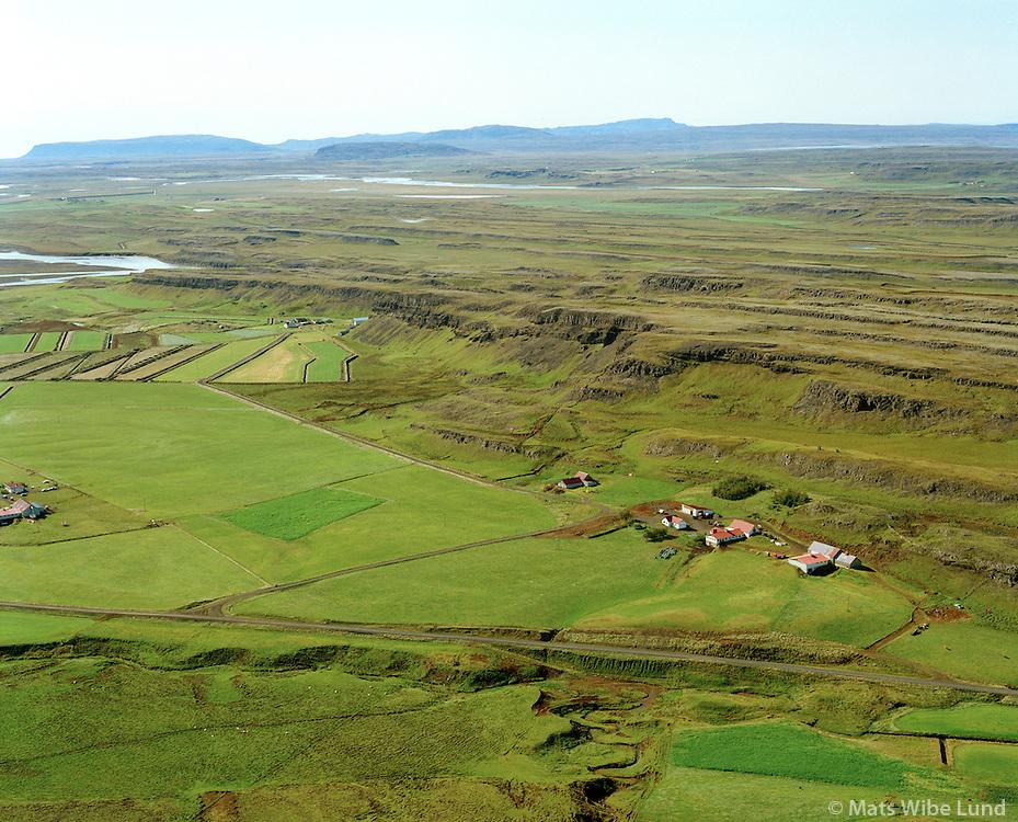 Skipholt séð til suðurs, Hvítá í bakgrunni, Hrunamannahreppur / Skipholt viewing south, Hvita in background, Hrunamannahreppur.