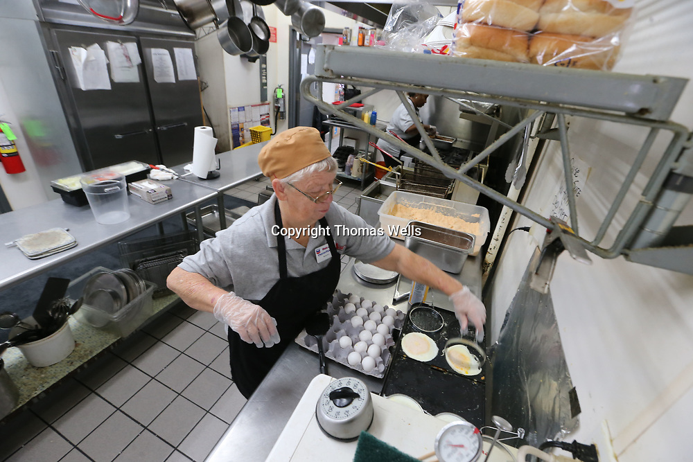 Mary Wren makes homemade biscuts and cooks everythign from scratch at the Texaco Station on Barnes Crossing Road.