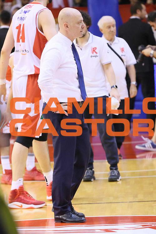 Menetti Massimiliano<br /> Grissin Bon Reggio Emilia - Sidigas Avellino<br /> Playoff gara 3<br /> Legabasket A 2016/2017<br /> reggio emila17/05/2017<br /> Foto Ciamillo-Castoria