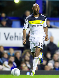 LIVERPOOL, ENGLAND - Wednesday, October 26, 2011: Chelsea's Nicolas Anelka during the Football League Cup 4th Round match against Everton at Goodison Park. (Pic by Vegard Grott/Propaganda)