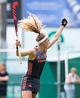 St.-Job-In 't Goor / Antwerpen -  Nederland Jong Oranje Dames (JOD) - Groot Brittannie (7-2).  Yibbi Jansen (Ned) scoort 1-0. COPYRIGHT  KOEN SUYK