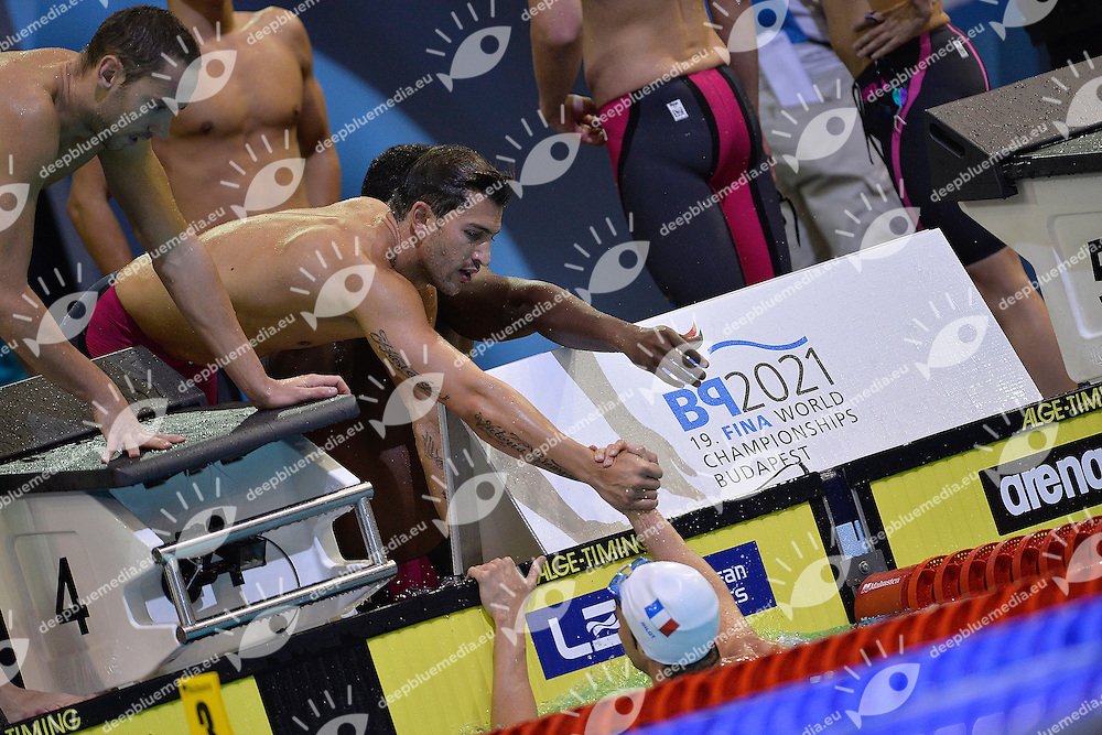 France 4x100 Medley Relay Silver MEdal <br /> STRAVIUS Jeremy, PEREZ-DORTONA Giacomo, METELLA Mehdy, GILOT Fabien Swimming <br /> 32nd LEN European Championships  <br /> Berlin, Germany 2014  Aug.13 th - Aug. 24 th<br /> Day12 - Aug. 24<br /> Photo Andrea Staccioli/Deepbluemedia/Insidefoto
