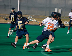 Virginia attackman Garrett Billings (19) in action against Navy.  The Virginia Cavaliers scrimmaged the Navy Midshipmen in lacrosse at the University Hall Turf Field  in Charlottesville, VA on February 2, 2008.