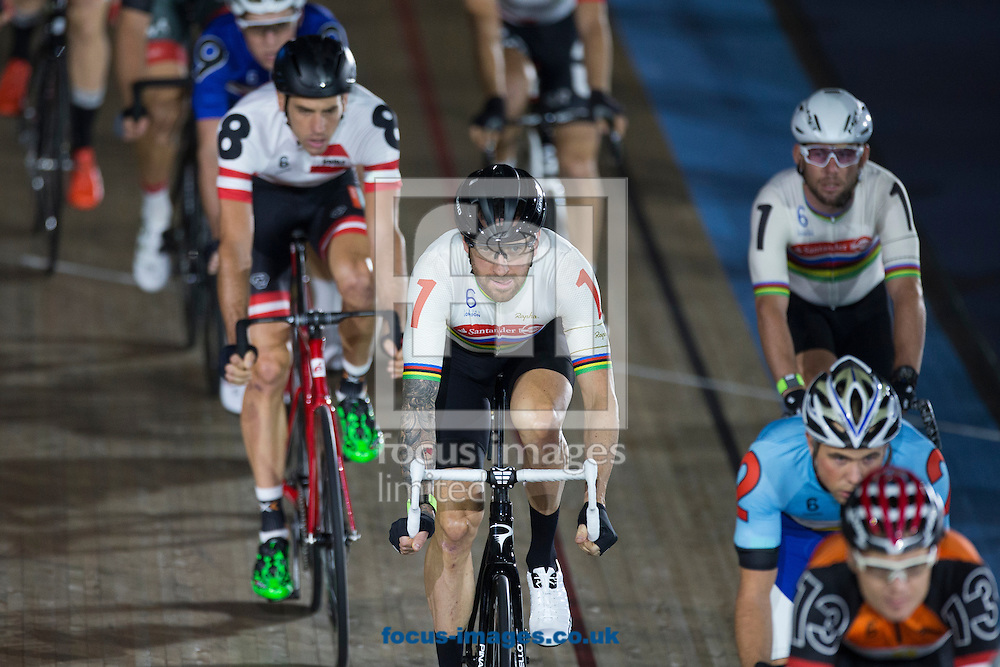 Sir Bradley Wiggins in action on day one of the Six Day cycling series at Lee Valley VeloPark, London, UK<br /> Picture by Ryan Dinham/Focus Images Ltd +44 7900 436859<br /> 25/10/2016