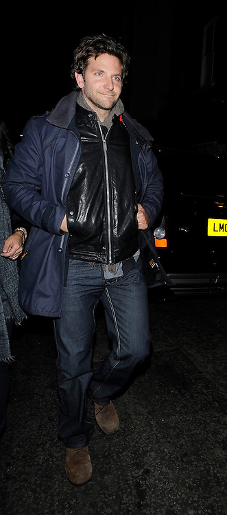11.MARCH.2011. LONDON<br /> <br /> BRADLEY COOPER LEAVING THE BOX NIGHTCLUB IN SOHO, LONDON<br /> <br /> BYLINE: EDBIMAGEARCHIVE.COM<br /> <br /> *THIS IMAGE IS STRICTLY FOR UK NEWSPAPERS AND MAGAZINES ONLY*<br /> *FOR WORLD WIDE SALES AND WEB USE PLEASE CONTACT EDBIMAGEARCHIVE - 0208 954 5968*