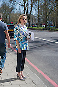 DAFNA BONAS, Leaving The Seventh Annual Foreign Sisters Lunch in aid of Cancer Research UK. . The Dorchester 53 Park Lane. London. 1 May 2013.