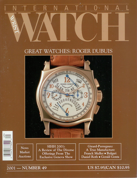 Magazine Cover - International Watch Roger Dubuis