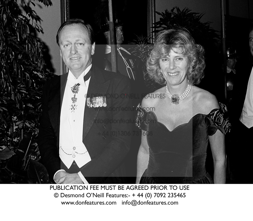 ANDREW and CAMILLA PARKER BOWLES in October 1990.  KFT 8<br /> PUBLICATION FEE MUST BE AGREED PRIOR TO USE<br /> © Desmond O'Neill Features:- + 44 (0) 7092 235465<br /> www.donfeatures.com   info@donfeatures.com