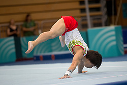Takumi Sato of Japan at Floor Exercise during Finals of Artistic Gymnastics FIG World Challenge Koper 2018, on June 2, 2018 in Arena Bonifika, Koper, Slovenia. Photo by Urban Urbanc / Sportida