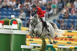 De Luca Lorenzo, (ITA), Geisha van Orshof<br /> Team completion and 2nd individual qualifier<br /> FEI European Championships - Aachen 2015<br /> © Hippo Foto - Dirk Caremans<br /> 20/08/15