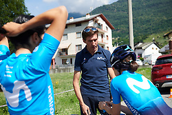 Movistar Women's Team during Stage 6 of 2019 Giro Rosa Iccrea, a 12.1 km individual time trial from Chiuro to Teglio, Italy on July 10, 2019. Photo by Sean Robinson/velofocus.com