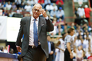 Head coach Larry Brown of the SMU Mustangs walks back towards his bench while his team plays against the Memphis Tigers at Moody Coliseum on Wednesday, February 6, 2013 in University Park, Texas. (Cooper Neill/The Dallas Morning News)