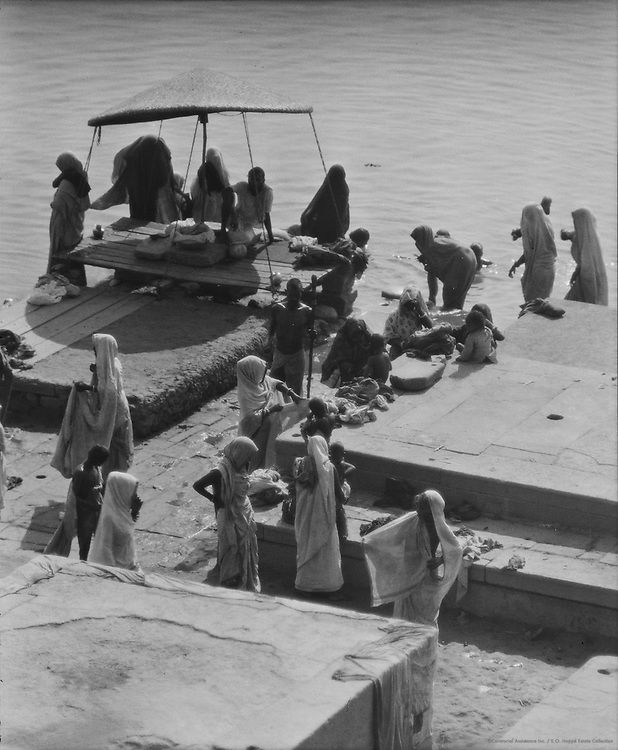 Bathing Ghats, Benares, India, 1929