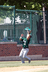 11 May 2013:  Johnathan Erickson during an NCAA division 3 College Conference of Illinois and Wisconsin (CCIW) Pay in Baseball game during the Conference Championship series between the North Park Vikings and the Illinois Wesleyan Titans at Jack Horenberger Stadium, Bloomington IL