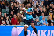SYDNEY, NSW - MAY 19: Waratahs player Taqele Naiyaravoro catches the high ball at week 14 of the Super Rugby between The Waratahs and Highlanders at Allianz Stadium in Sydney on May 19, 2018. (Photo by Speed Media/Icon Sportswire)