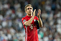 Philipp Lahm of FC Bayern Munchen during the match of Champions League between Real Madrid and FC Bayern Munchen at Santiago Bernabeu Stadium  in Madrid, Spain. April 18, 2017. (ALTERPHOTOS)