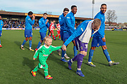 Mascot during the EFL Sky Bet League 1 match between AFC Wimbledon and Doncaster Rovers at the Cherry Red Records Stadium, Kingston, England on 9 March 2019.