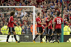 August 2, 2017 - Dublin, Ireland - Manchester Utd players celebrate after Juan Mata score during the Pre-Season Friendly match between Manchester United and Sampdoria at Aviva Stadium in Dublin, Ireland on August 2, 2017  (Credit Image: © Andrew Surma/NurPhoto via ZUMA Press)