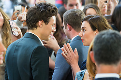 © Licensed to London News Pictures. 13/07/2017. London, UK. HARRY STYLES meets DEE KOPPANG at the Dunkirk World Film Premiere. Photo credit: Ray Tang/LNP