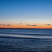 Today's overcast sunrise  at Narragansett Town Beach, Narragansett, RI,  March  15, 2013.