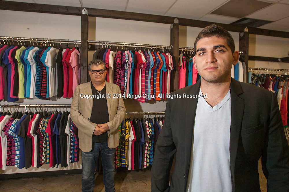 Shlomo Meiri, and his son Adie, founders of ecommerce site Le Jolie, which sells luxury clothing and accessories at a discounted price.<br /> (Photo by Ringo Chiu/PHOTOFORMULA.com)