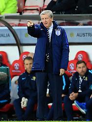 England Manager Roy Hodgson points - Mandatory by-line: Matt McNulty/JMP - 27/05/2016 - FOOTBALL - Stadium of Light - Sunderland, United Kingdom - England v Australia - International Friendly
