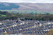 Terraced houses in Skipton, North Yorkshire, UK.