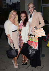 Sarah Giggle, Lydia Lucy and Lewis Duncan Weedon attend Cherry Edit Launch Party at Cafe Kuizen, Hanover Square, London on Wednesday 1 October 2014