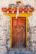 Traditional Tibetan Doorway, Spiti Valley, India