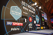 The main stage during the First Round of the BetVictor World Matchplay Darts at the Empress Ballroom, Blackpool, United Kingdom on 19 July 2015. Photo by Shane Healey.