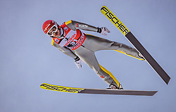 12.01.2019, Stadio del Salto, Predazzo, ITA, FIS Weltcup Skisprung, Val di Fiemme, Herren, 1. Wertungsdurchgang, im Bild Richard Freitag (GER) // Richard Freitag of Germany during his 1st Competition Jump for the Four Hills Tournament of FIS Ski Jumping World Cup at the Stadio del Salto in Predazzo, Itali on 2019/01/12. EXPA Pictures © 2019, PhotoCredit: EXPA/ JFK