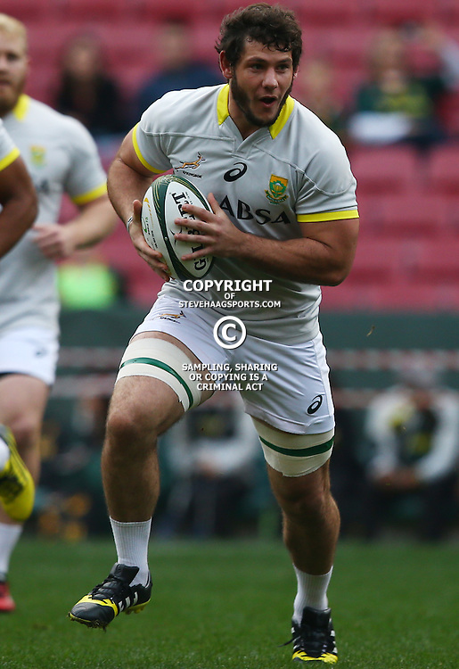 Friday 10th July 2015, Marcell Coetzee during the Captain's run at DHL Newlands stadium Cape Town South Africa (Photo by Steve Haag)