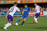 AFC Wimbledon midfielder Anthony Hartigan (8) about to take a shot during the EFL Sky Bet League 1 match between AFC Wimbledon and Shrewsbury Town at the Cherry Red Records Stadium, Kingston, England on 14 September 2019.