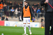 Andrew Shinnie of Luton Town (11) warming up during the EFL Sky Bet League 1 match between Scunthorpe United and Luton Town at Glanford Park, Scunthorpe, England on 26 December 2018.
