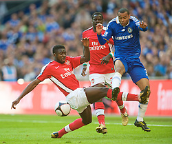 LONDON, ENGLAND - Saturday, April 18, 2009: Arsenal's Kolo Toure and Chelsea's Ashley Cole during the FA Cup Semi-Final match at Wembley. (Photo by: David Rawcliffe/Propaganda)