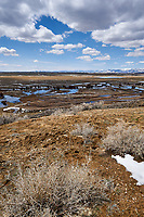 Eastern overlook of the wetlands in Arapaho National Wildlife Refuge. Image four of six taken with a Nikon D3 camera and 14-24 mm f/2.8 lens (ISO 200, 23 mm, f/16, 1/200 sec). Panorama composed using Auto Pano Giga Pro.