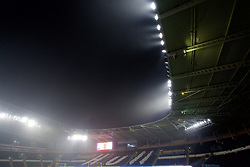 KINGSTON-UPON-HULL, ENGLAND - Friday, December 30, 2016: Fog and mist roll in over the floodlights of the KCOM Stadium ahead of the FA Premier League match between Hull City and Everton. (Pic by David Rawcliffe/Propaganda)