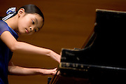 Holly Li, 10 years old, performs at O.U.'s School of Music on Friday, 5/11/07, during the Athens Community Music School's Spring Recital.