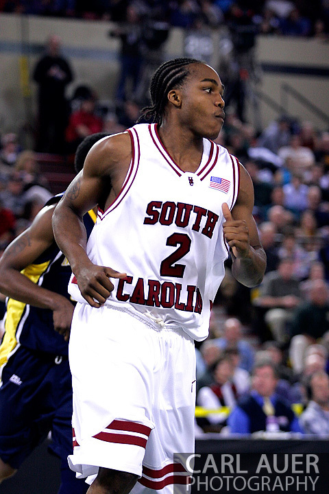 26 November 2005: Stephen McDowell, a sophomore guard for USC, in the South Carolina Gamecock overtime loss, 89-92 to the Golden Eagles of Marquette in the final game of the Great Alaska Shootout in Anchorage, Alaska