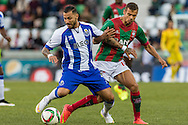 Portugal, FUNCHAL : Porto's Portuguese forward Quaresma (L)  vies with Maritimo's Portuguese forward Edgar Costa (R ) during Portuguese League football match Maritimo vs F.C. Porto at Barreiros Stadium in Funchal on January  25, 2015. PHOTO/ GREGORIO CUNHA